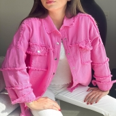 JUBILE⚡️/  Qui n'a pas encore craquer pour cette magnifique VESTE Jubile rose 🌸 ?  Psst elle est disponible dans vos 3 boutiques ainsi que sur le ESHOP Angel'S !  #boutiqueangelsfleron #boutiqueangelsheusy #boutiqueangelsheusy #heusy #beaufays #fleron #liege #belgium #anywhere #beautifulgirl #blog #blogueusemode #blogueuse #mode #clothes #shop #onlineshopping #online #instagram #instaclothes #liege #blondehair #addicted #clothes #2021 #newcollection #outfitinspiration #outfitoftheday #vestefushia #cotonstrech #pinkjacket💕